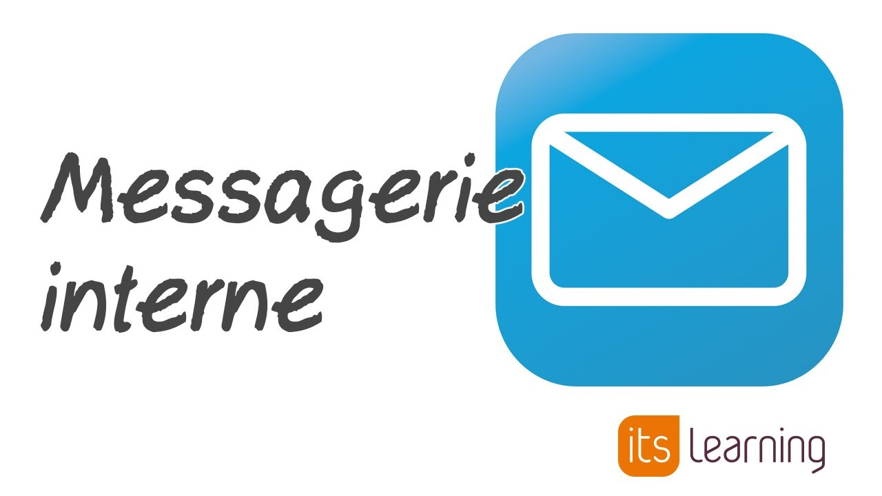 itslearning France : Présentation de la messagerie interne de l'ENT - YouTube
