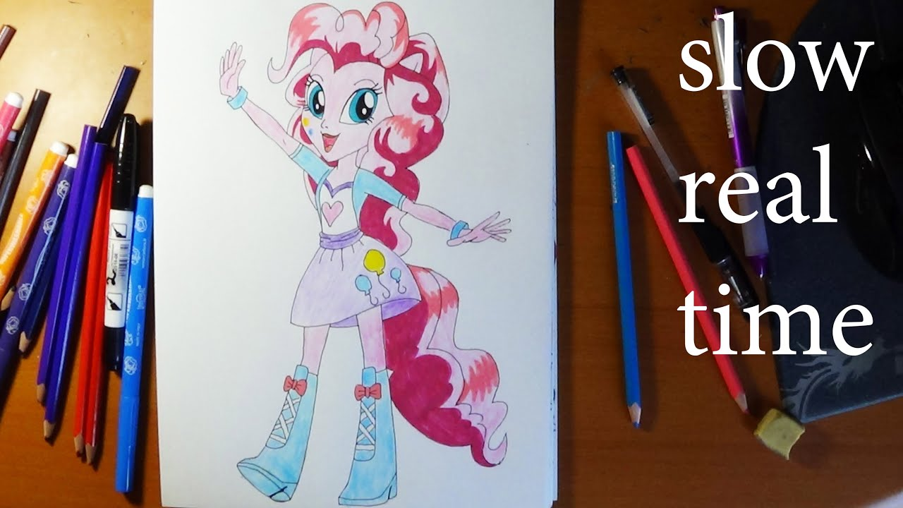 How To Draw My Little Pony Equestria Girls Pinkie Pie Slow
