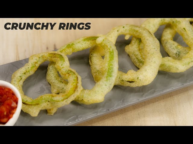 Capsicum Rings Recipe - Crunchy Starter for Evening - CookingShooking