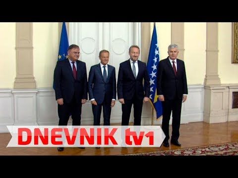 Izetbegović i Čović napravili incident pred Donaldom Tuskom