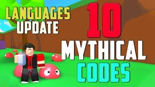 10 LANGUAGES UPDATE MYTHICAL CODES IN ROBLOX BLOB SIMULATOR