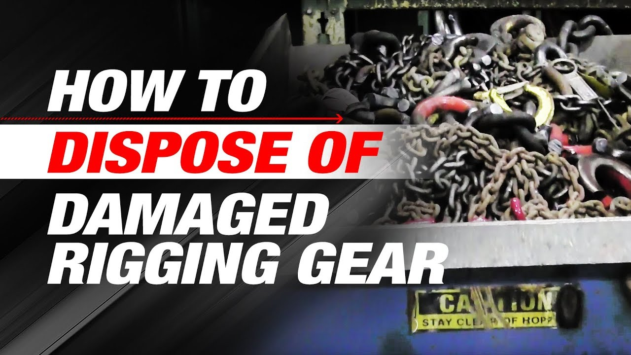 How to Dispose of Damaged Rigging Gear, Wire Rope, and Slings | Ep 3 ...
