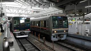 207系0番台F1編成 大阪発車