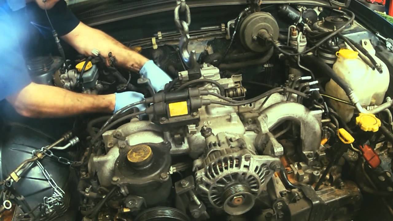 how to remove a forrester engine in 3 and 1 2 minutes go pro 98 Subaru Forester White how to remove a forrester engine in 3 and 1 2 minutes go pro timelapse youtube