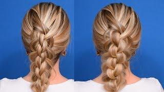 3D Коса Своими Руками/Очень красивое плетение/Прическа на средние и длинные волосы