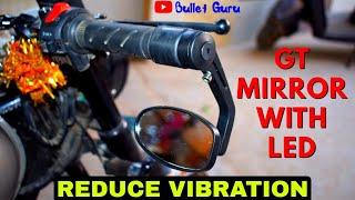 Handlebar Mirror With LED   REDUCE VIBRATION    R.J Von