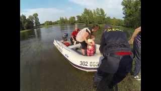 hasiči na laguně, dojezd
