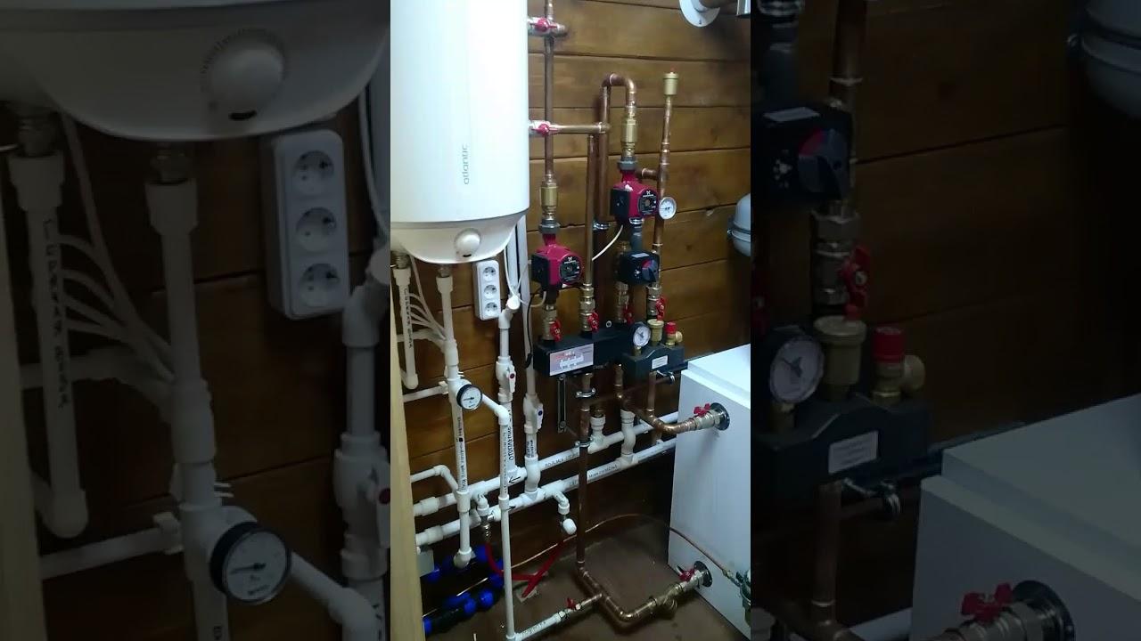 Дизельный котел Olympia. Отопление закрытого типа в гараже. - YouTube