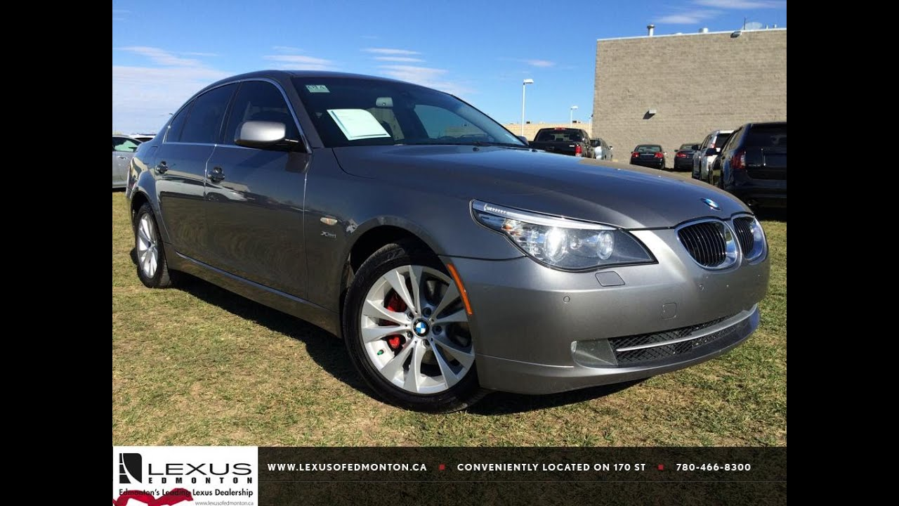 hight resolution of pre owned grey 2010 bmw 5 series 535i xdrive awd in depth review red deer alberta