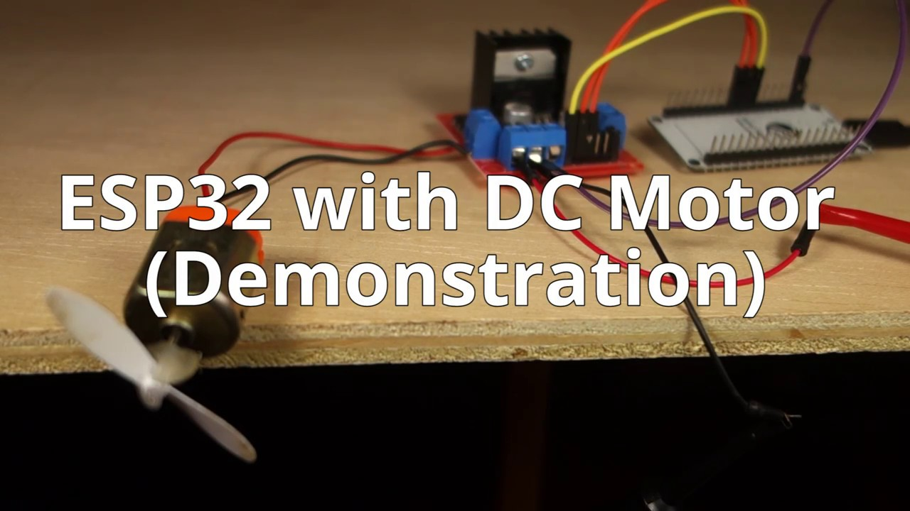 ESP32 with DC Motor - Control Speed and Direction | Random Nerd