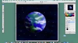Tutorial to Draw Planet Earth in Photoshop : Basic Drawing in Photoshop