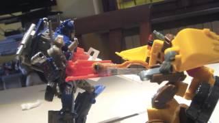 Transformers DOTM: Optimus Prime Rage in stop-motion