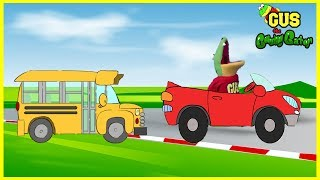 Learn Vehicles for Kids with Cars, School Bus, and Trucks