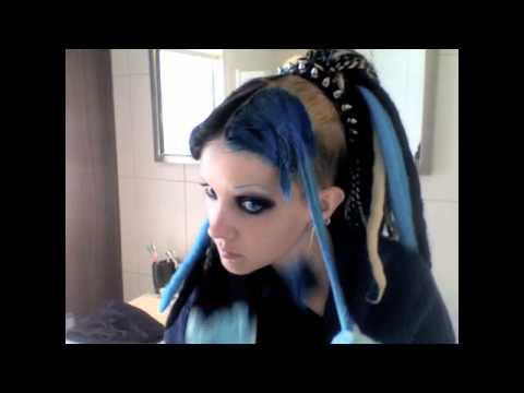 Wonderbaar Tutorial door Mara - hoe verf je je haar blauw met Manic Panic MR-81