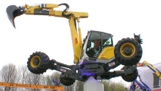 Amazing Flying Menzi Muck M5 45 Demo Show @ Bauma 2013