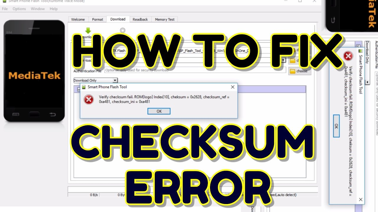 Fix Verify Checksum failed SP Flash Tool | Hindi - हिंदी