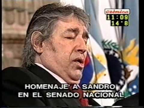 SANDRO DE AMÉRICA: HOMENAJE EN EL SENADO.