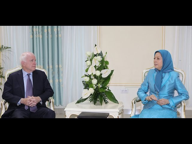 SENATOR MCCAIN VISITS PMOI MEMBERS IN TIRANA