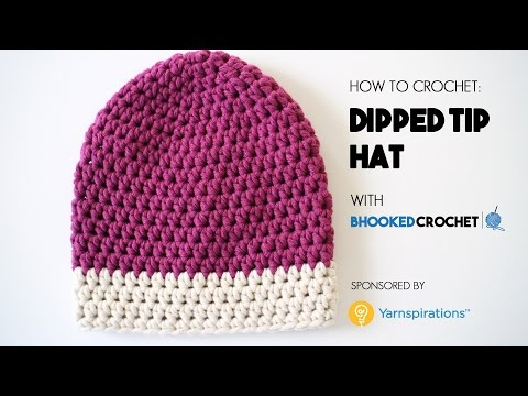 How To Crochet The Dipped Tip Crochet Hat