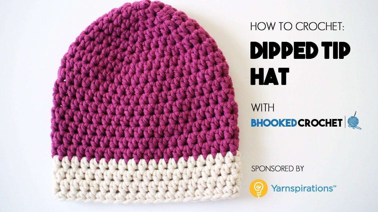742b8754508 How to Crochet the Dipped Tip Crochet Hat - Beginner Friendly - YouTube