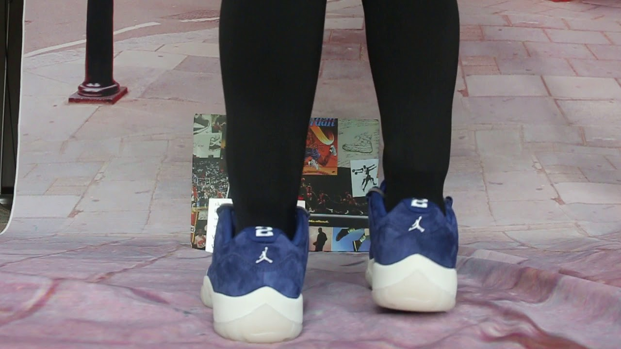 pretty nice a258a 3a9bf Close look at the Air Jordan 11 Low RE2PECT On Feet