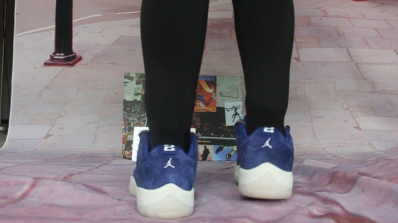 Close look at the Air Jordan 11 Low RE2PECT On Feet - YouTube f0b04f438