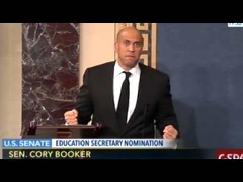 "Senator Booker Concerned About ""The School To Prison Pipeline"""