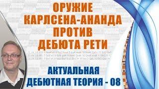 Оружие Карлсена-Ананда против дебюта Рети. Актуальная теория 08. Игорь Немцев, шахматы