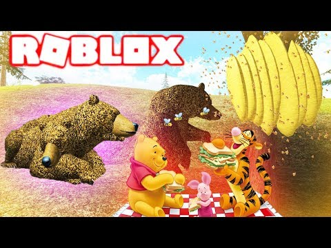 WINNIE THE POOH AND THE TWO HEADED BEAR IN ROBLOX! Random Game Slot. Roleplay Gaming Family Friendly
