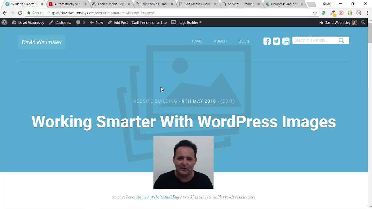 Working Smarter with WordPress Images - YouTube