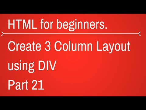 3 column layout in div - HTML Tutorial for Beginners Part 21