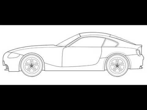 Como Desenhar Um Carro Bmw Youtube