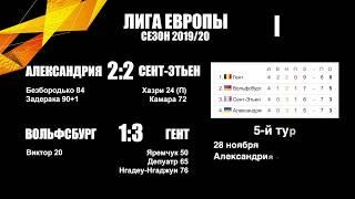 Лига Европы 2019 4 и тур результаты таблицы расписание матчеи