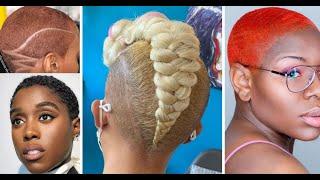 💖 CUTE HAIRSTYLES ON SHORT & BALDIES SHAVED HEAD NATURAL HAIR
