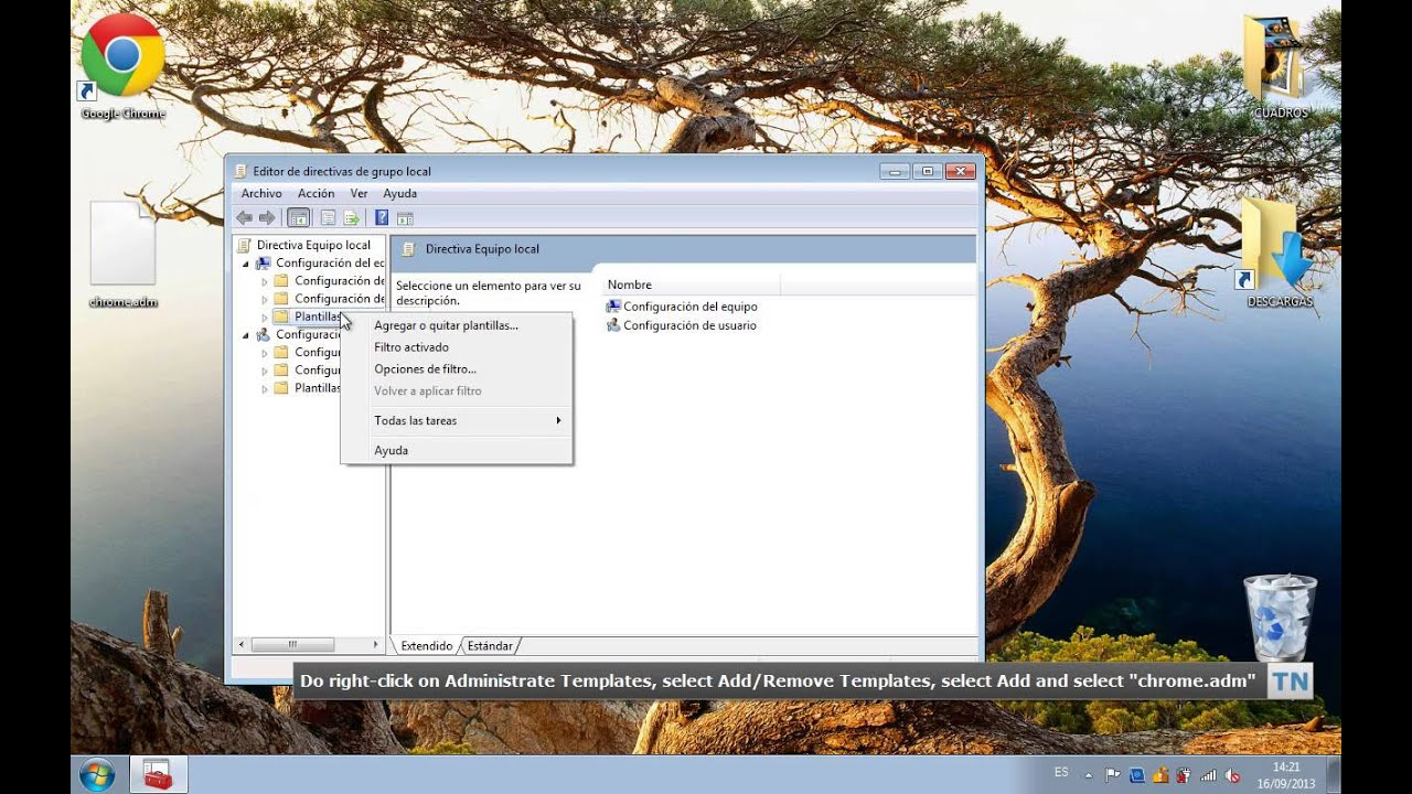 How to install the Google Chrome\'s Group Policy API on Windows - YouTube