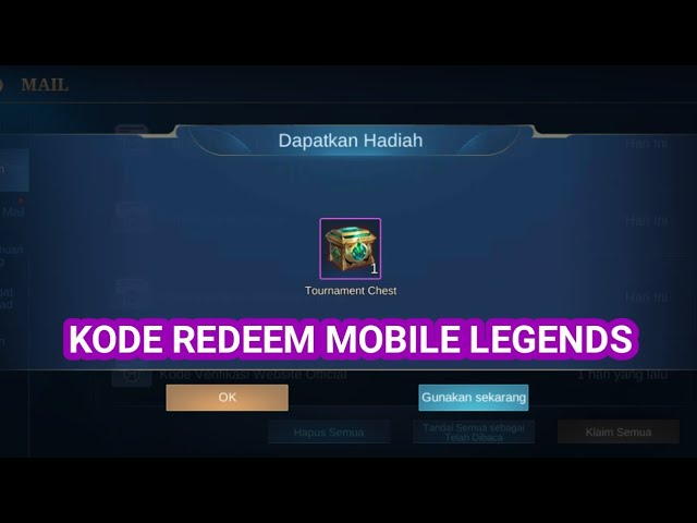 Kode Redeem ML Terbaru Mobile Legends Oktober 2020 | Esportsku
