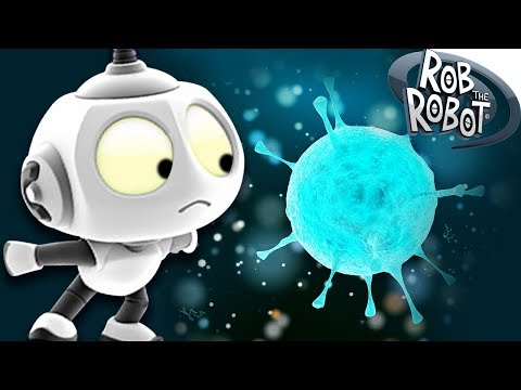 Around The Galaxy #3 - SPACE VIRUS | Rob The Robot | Space Robot Cartoons For Children