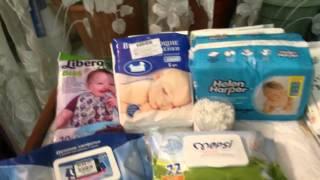 Обзор новых средств по уходу за малышкой (влажные салфетки, одноразовые слюнявчики и пеленки и др.)