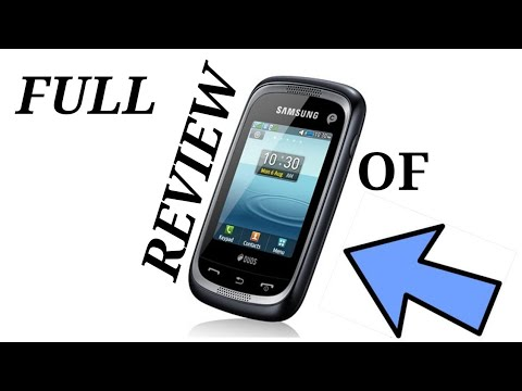REVIEW OF THE FIRST SAMSUNG TOUCH SCREEN PHONE - YouTube