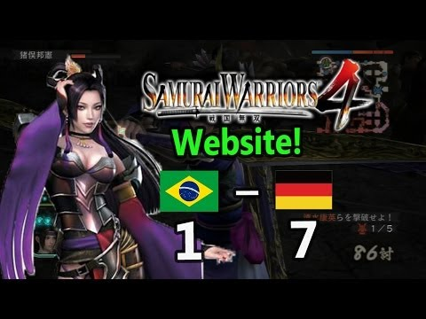 What happened to Brazil? Brazil VS Germany 7-1 Fifa 2014 (Samurai Warriors 4 Official Website!)