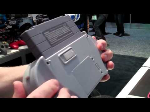 CGR E3 2011 Adventure Pt38: Hyperkin SupaBoy portable SNES handheld console
