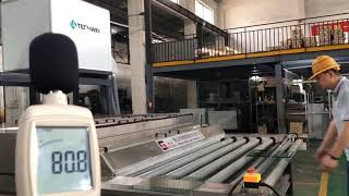 2500mm horizontal glass washing machine for flat glass panels noise testing