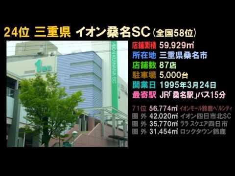 巨大ショッピングセンター 都道府県ランキング