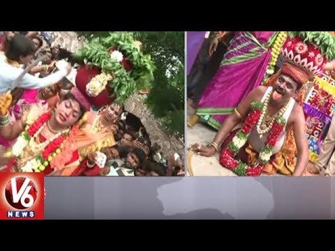 Golconda Bonalu || Devotees Offer Prayers To Goddess Jagadamba Temple || V6 News