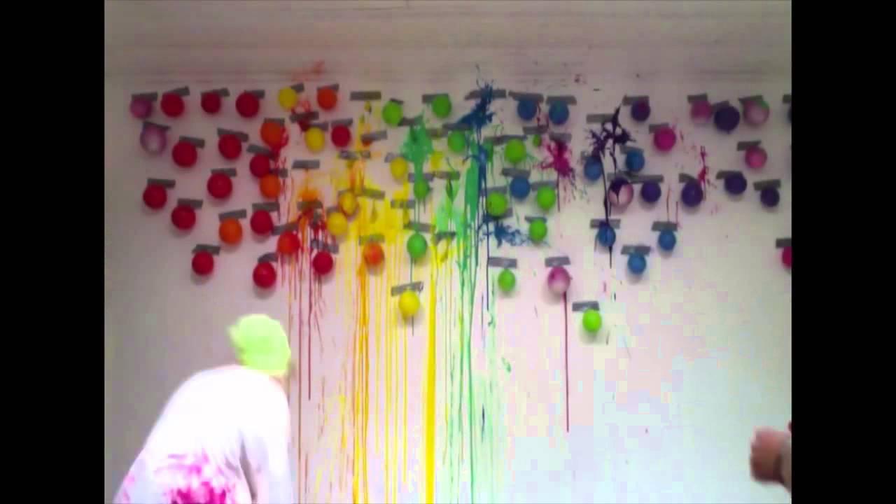 Paint Balloons On Dart Wall Youtube