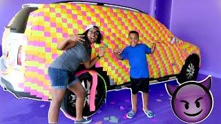STICKY NOTE CAR TRICK ON PARENTS!