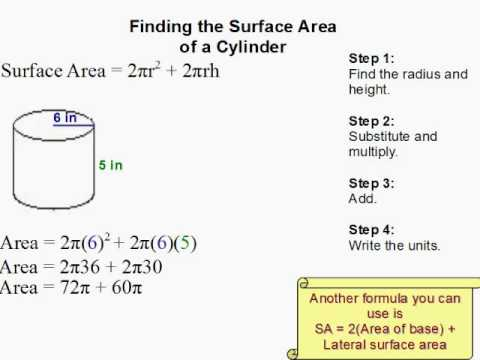 How to Find the Surface Area of a Cylinder  YouTube