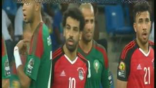 بالفيديو  مصر والمغرب.. #محمد_صلاح يهدر هدية عبد الله السعيد