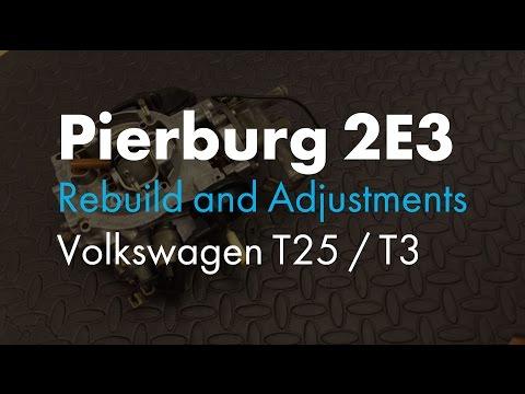 Pierburg 2E3 Carb Rebuild & Adjustments for VW T25 / T3