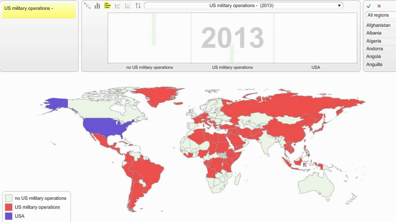 US Military Operations From YouTube - Us military map